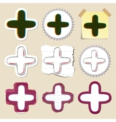 Hand drawn web emblems set isolated vector