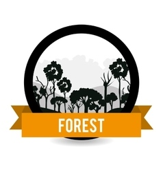 Forest natural parks and landscape vector