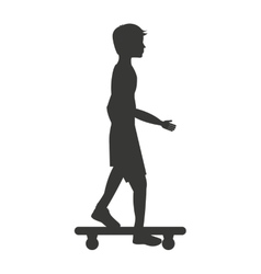 Skateboard sport isolated icon design vector