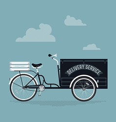 Delivery cart vector