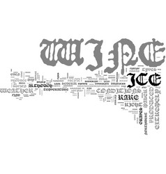 A look at ice wine text word cloud concept vector