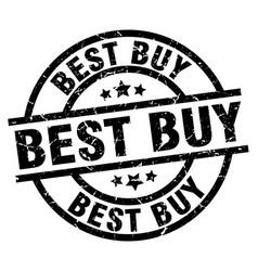 Best buy round grunge black stamp vector
