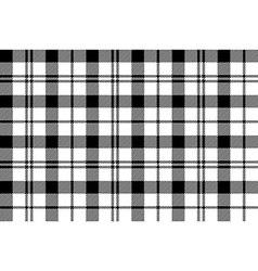 Black white milytary tartan seamless background vector