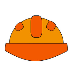 Construction helmet design vector