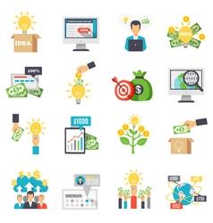 Crowdfunding decorative icons set vector