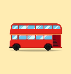 Double decker bus flat design vector