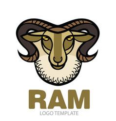 Drawing head of ram vector
