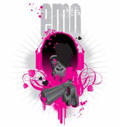 emo gorilla vector image
