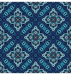 Flower pattern blue weave vector