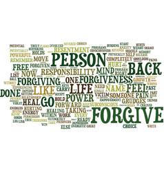 Forgive or else you are shackled like a prisoner vector