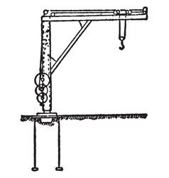 Foundry crane vintage vector