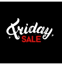 Friday Sale hand written lettering on black vector image vector image