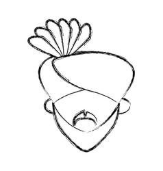 Indian ethic man cartoon vector