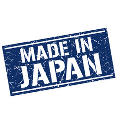 Made in japan stamp vector