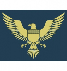 medieval eagle vector image vector image