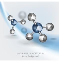 Methane Molecule Image vector image