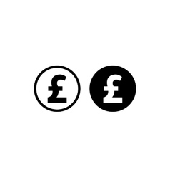Money pound icon vector