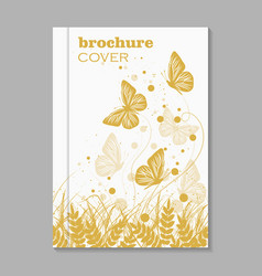 Natural brochure cover design vector