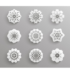 Paper snowflake vector image vector image