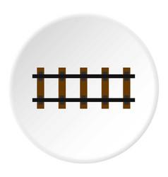 Railway icon circle vector