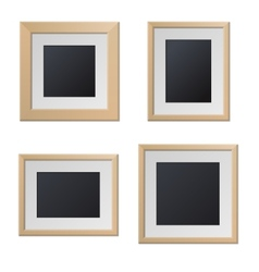 Realistic Wood Picture Frames with Blank Center vector image vector image