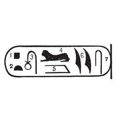 Rosetta stone sample or egyptian artifact vintage vector