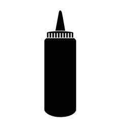 sauce plastic bottle vector image vector image