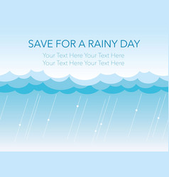 seamless background of the rain and clouds vector image vector image
