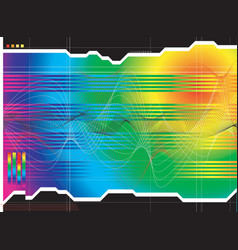 space outlook rainbow vector image