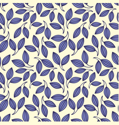 Stylized violet leaves seamless pattern vector