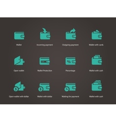 Wallet icons vector image