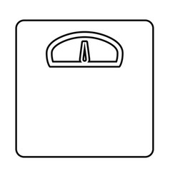 weight scale black color icon vector image vector image