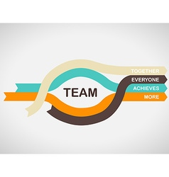 Word spell team on colorful paper stripes with vector