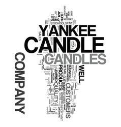 Yankee candle company text word cloud concept vector