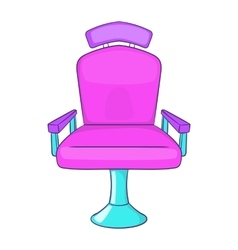 Barber chair icon cartoon style vector