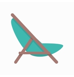 Beach chaise in flat design vector