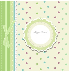 Vintage baby shower album vector