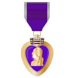 Purple heart medal vector