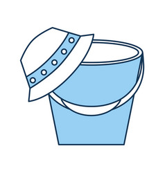 Fisher hat with pot vector