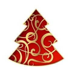 Fantasy fir tree vector image
