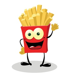 Friendly french fries vector