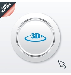 3d sign icon 3d new technology symbol vector