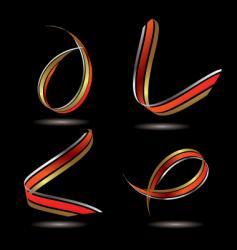 Metallic ribbon vector