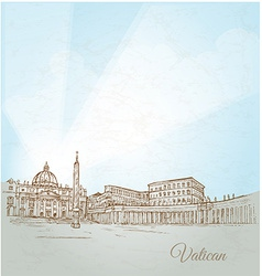 Vatican city background vector