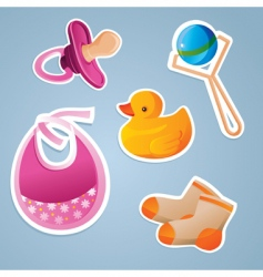 Baby's icon set vector