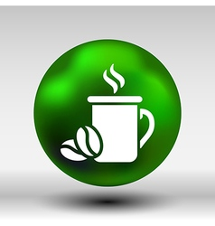 Coffee cup logo design template cafe shop emblem vector