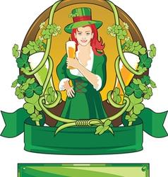 emblem st patrick day vector image