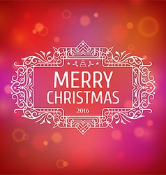 Postcard merry christmas 2016 vector
