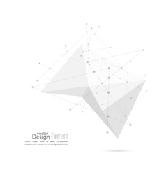 Abstract polygonal geometric shape vector