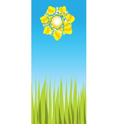 bright sunny day vector image